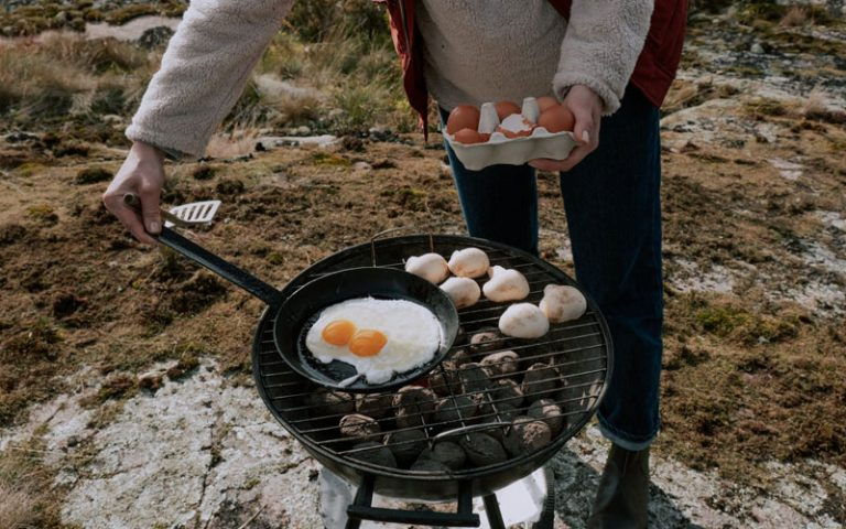 Cooking Over A Campfire
